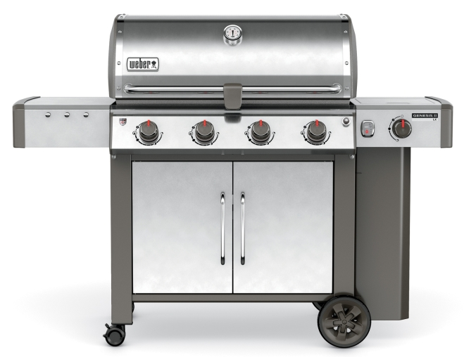 Weber 62004001 Genesis II LX. The Genesis II 4 burner model also comes in four colors; black, copper, smoke and crimson. Which is your favorite?