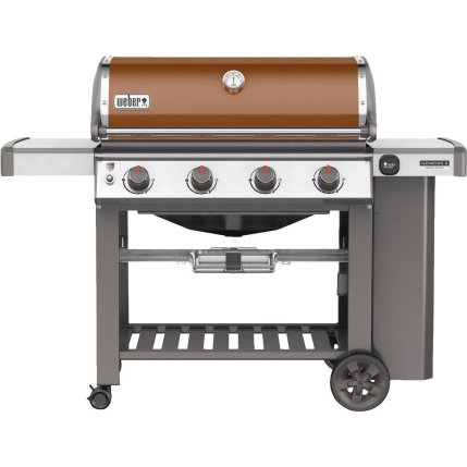 Weber SE410 Genesis II Copper 62030201. The Genesis II 4 burner model also comes in four colors; black, copper, smoke and crimson. Which is your favorite?