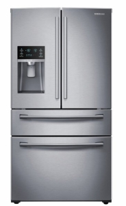 01_Refrigerator_French-Door_RF28HMEDBSR_Front_Closed_Silver