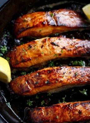 Grilled-Honey-and-Browned-Garlic-Butter-Salmon-5